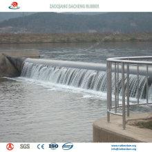 Barrage en caoutchouc gonflable rempli d'air durable pour la protection contre les inondations