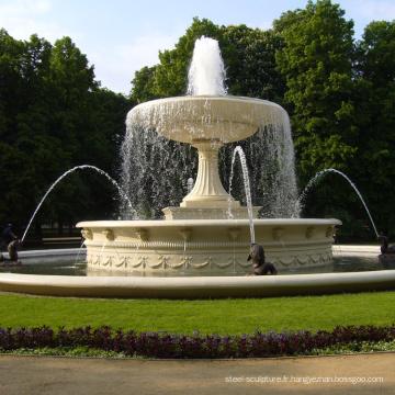 Nouveau design extérieur en marbre jardin piscine en marbre fontaine d'eau à vendre