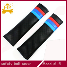 Car Interior Accessories Carbon Fiber Safety Seat Belt Cover