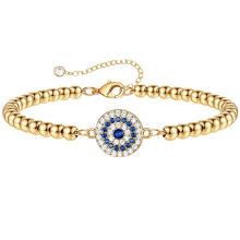 Amazon's new Devil's Eye Round Bead Bracelet Copper Plated 14K Real Gold Inlaid Zircon Bracelets