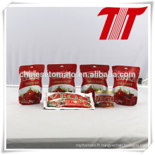 Pâte de tomate de sachet avec FDA, HACCP, Halal, FDA, certification de GV