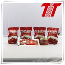Pasta de tomate saqueta com FDA, HACCP, Halal, FDA, Certificação SGS