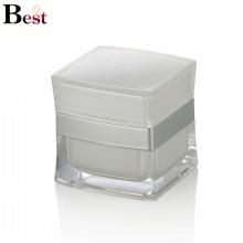 Frasco de acrílico del cuadrado blanco del costo de fábrica para los proveedores de porcelana cremas cosméticas