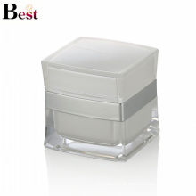 factory cost white square acrylic jar for cosmetic cream china suppliers