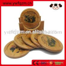 portavasos de madera de moda