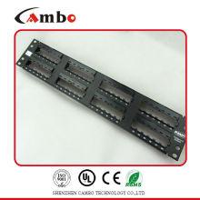 China Precio de fábrica del surtidor UTP montaje del estante de 19 pulgadas 2U 48 panel de remiendo portuario