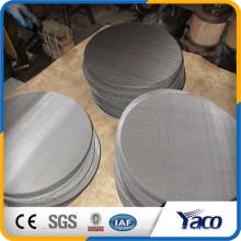 Disco de filtro de aço inoxidável, tela redonda de aço inoxidável de 50 mícrons