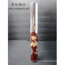 empty mascara tube cosmetic aluminum packaging tube