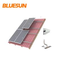 Montagem do suporte do painel solar suportes de montagem do painel ajustável rackings de estruturas de montagem do painel solar para telhado de azulejos de passo de estanho