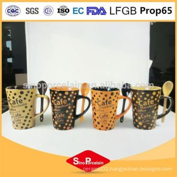 Ceramic custom design mugs 325ml ceramic coffee mug shapes
