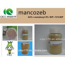 Agrochimique / fongicide / agriculture chimique mancozeb64% + métalaxyl 8% WP = 72% WP