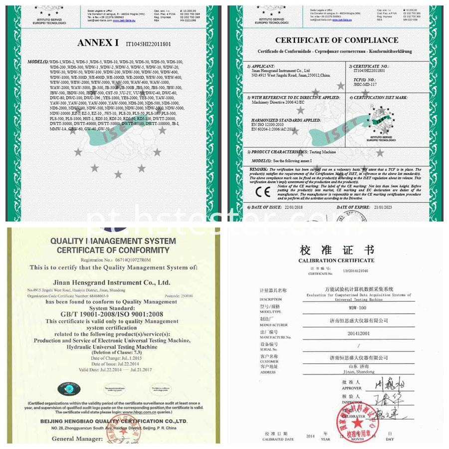 CE certificate of compresstion testing machine