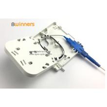 1 porta SC / APC FTTH caixa de terminação de fibra óptica