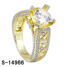 925 серебряных позолоченных 14k кольцо обручальное кольцо женщин.