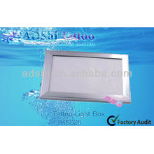 ADShi super thin silver aluminum frame LED lighting boxes for tattooing