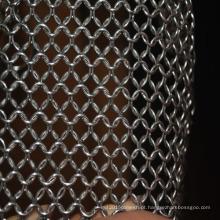 304 purificador de cota de malha de malha de anel de metal em aço Inoxidável