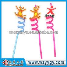 fantaisie plastique dur paille caoutchouc pvc charmant pour les enfants