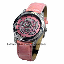 Fashion Ladies Crystal Watch Stainless Steel Back