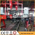 2015 alta calidad firme pórtico h-beam máquina de soldadura automática para la venta gruesa placa de acero soldadora