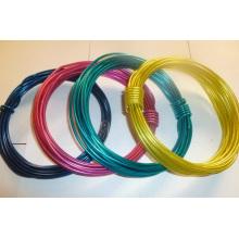 Fil en acier revêtu de PVC pour fil de suspension / fil en fer revêtu de PVC Bwg21 / 18-Bwg8 / 6