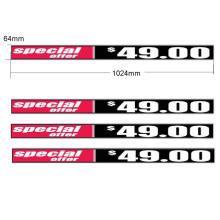 Écran d'affichage publicitaire LED P1.5625 pour étagère