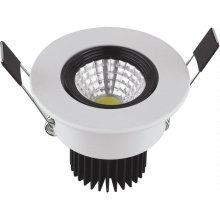 COB 3W 85-265V Luz LED branca para baixo