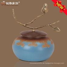 bunte Wohnaccessoires verzierte keramische Vase für Möbeldekoration