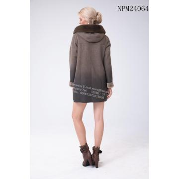 Winter Short Australia Merino Shearling Bluza z kapturem