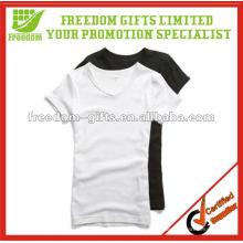 T-shirt blanc en vrac élastique 100% unisexe