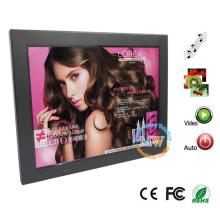 Marco de imagen digital de 12.1 pulgadas con lector de tarjetas, USB, MP3 y reproductor de video