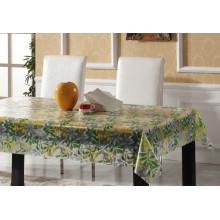 Toalha de mesa impressa do PVC da toalha de mesa transparente plástica dos projetos novos