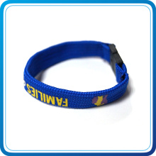 Custom Print Own Design with Plastic Buckle Wristbands for Promotional