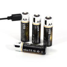 1,5 V AA Lithium-Akku mit USB-Ladegerät