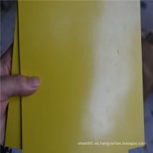 Cojín de goma de la hoja de goma del color amarillo SBR