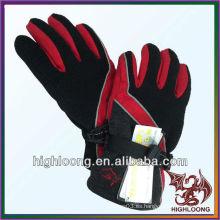 Invierno exquisito al por mayor que completa un ciclo el guante ajustable micro negro del paño grueso y suave