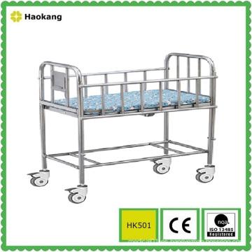 Mobiliario hospitalario para cama de bebé de acero inoxidable médico (HK501)