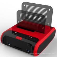 Dual Bucht USB 3.0 Docking Station mit Netzteil / Schnelle Aufladung für Laptop, CE / FCC Vollständig zertifiziert