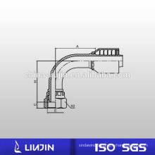 Raccord de tuyau hydraulique monobloc non filière, 90 pièces, filetage métrique (20191-RW)
