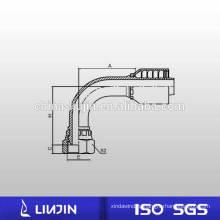 90 локоть метрическая внутренняя резьба цельный нескользящий фитинг гидравлического шланга (20191-RW)