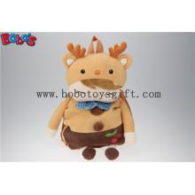 "19.6 ""Brown Deer Shape Kinder Plüsch Cartoon Rucksack Rucksack Kindergarten Pupillen Taschen Bos1225 / 50cm"