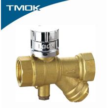 Válvula de bola bloqueable magnética del fabricante de China con el Y-colador en la valvula de TMOK