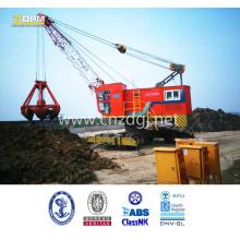 Dual-Power Hydraulic Wheeled Single Boom Grabbing Crane