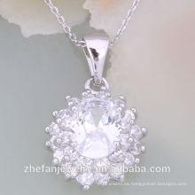 Joyería de imitación de la manera del collar de la venta de la fábrica de China La joyería plateada rodio es su buena selección