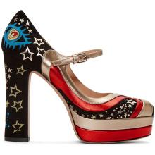 Пользовательские последние новый дизайн кожаные итальянские дамы соответствующие обувь и сумки комплект