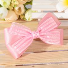Hot sale charming organza ribbon bow