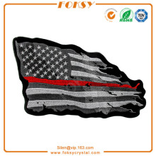Black American Flag embroidery patch custom