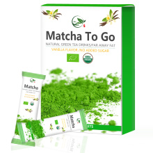 Matcha Single Serve Sticks, Matcha Serve Verpackung, Matcha Pulver
