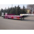 White color 3axles 12M3 lowbed trailer