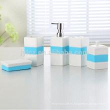 juego de baño con silicona, juego de 5, 5 piezas de cerámica con baño de silicona