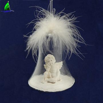 Елочный шар-орнамент с крыльями из ангельской смолы